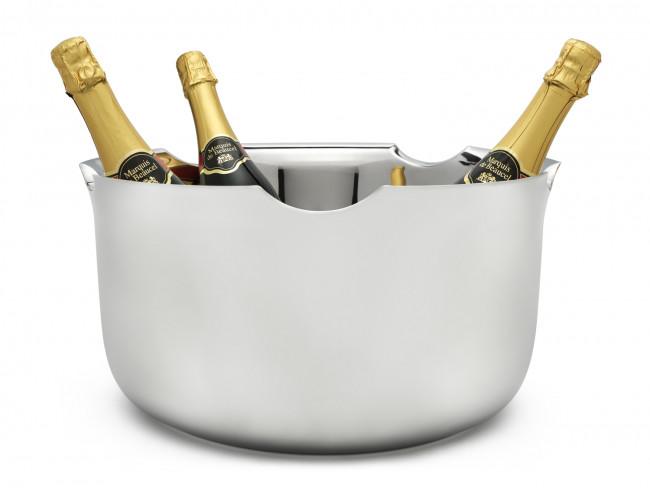 Champagnerschale doppelwandig Edelstahl