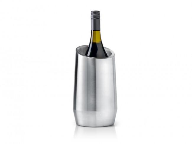 Flaschenkühler doppelwandig Edelstahl matt