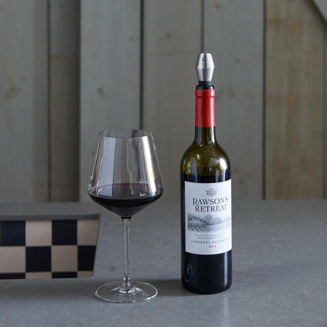 Weinstopper Tondo Edelstahl matt