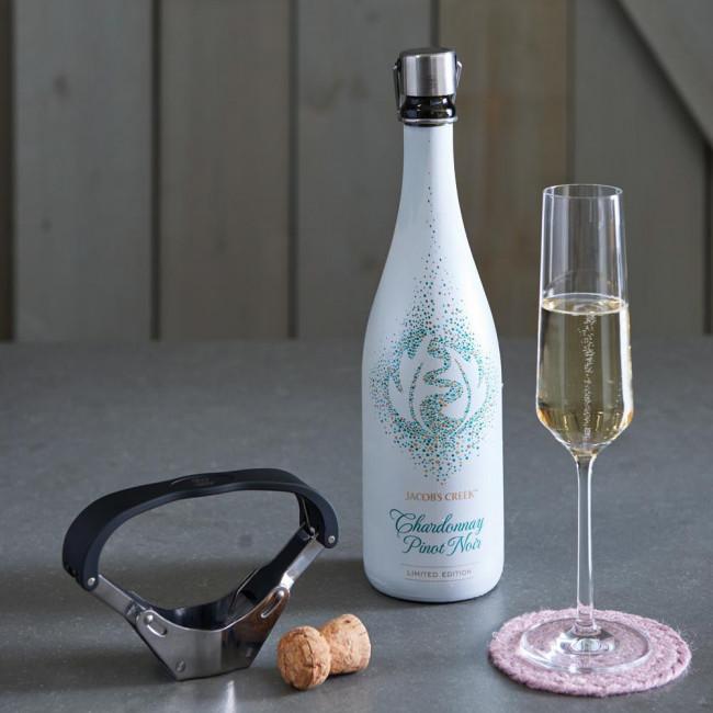 Champagnerflaschenöffner Pressa Edelstahl