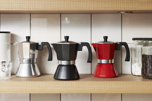 Espressokocher Tivoli 6 Tassen schw. (Ind)