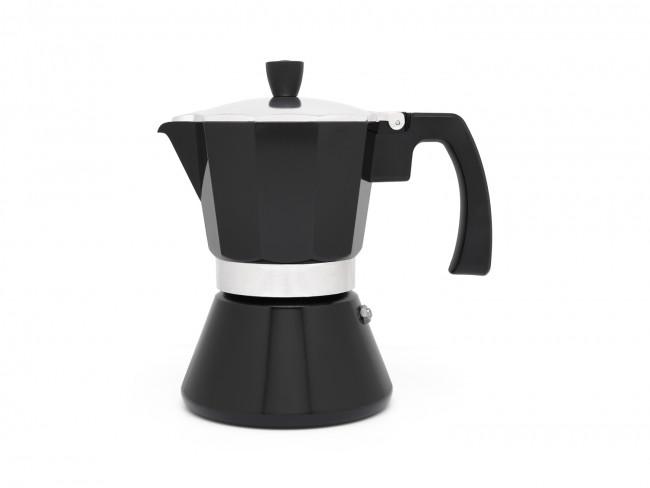 Espressokocher Tivoli 6 Tassen induktionsgeeignet schwarz
