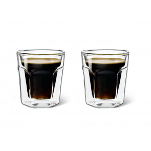 Doppelwandiges Glas 100ml 2er-Set