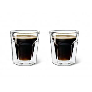 Doppelwandiges Glas Espresso, 2er Set