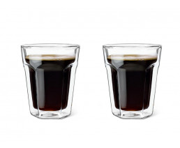 Glas doppelwandige 220ml 2er-Set
