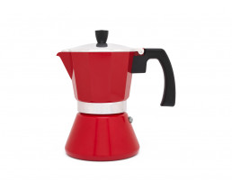 Espressokocher Tivoli 6 Tassen induktionsgeeignet rot